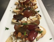 red grape bruschetta