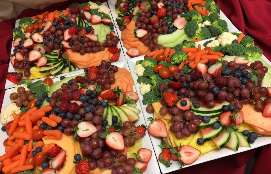 Waterfall Fruit And Veggie Displays: Catered Fruit Display